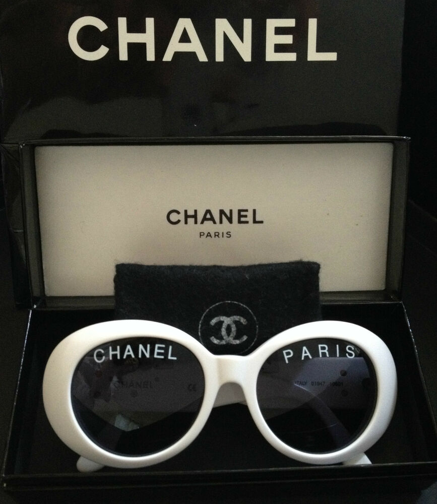f0553600a0 ONLY ONE! 100% RARE ICONIC CHANEL PARIS White Round Sunglasses Pharrell  Williams