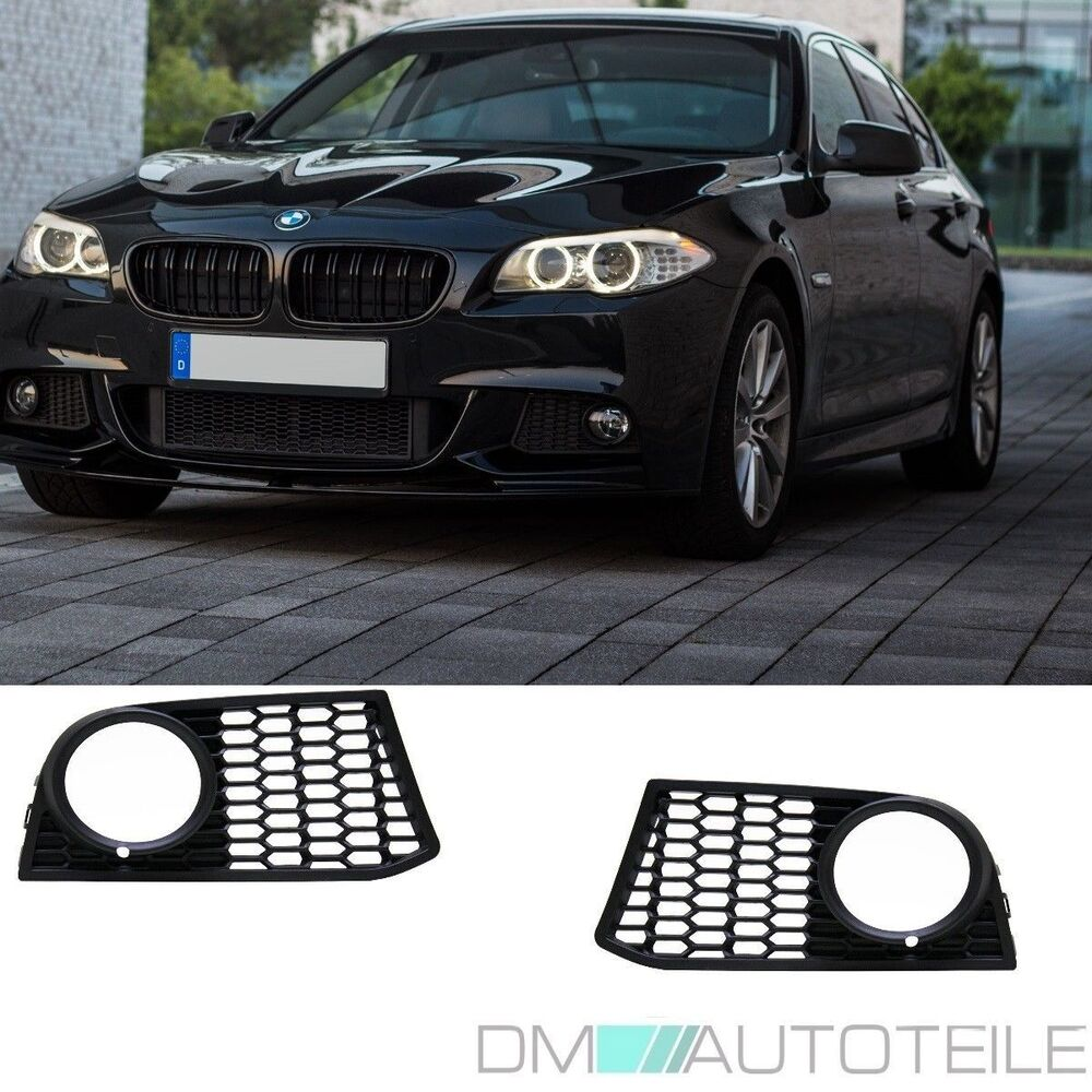 gitter grill nebelscheinwerfer set schwarz passend f r bmw. Black Bedroom Furniture Sets. Home Design Ideas