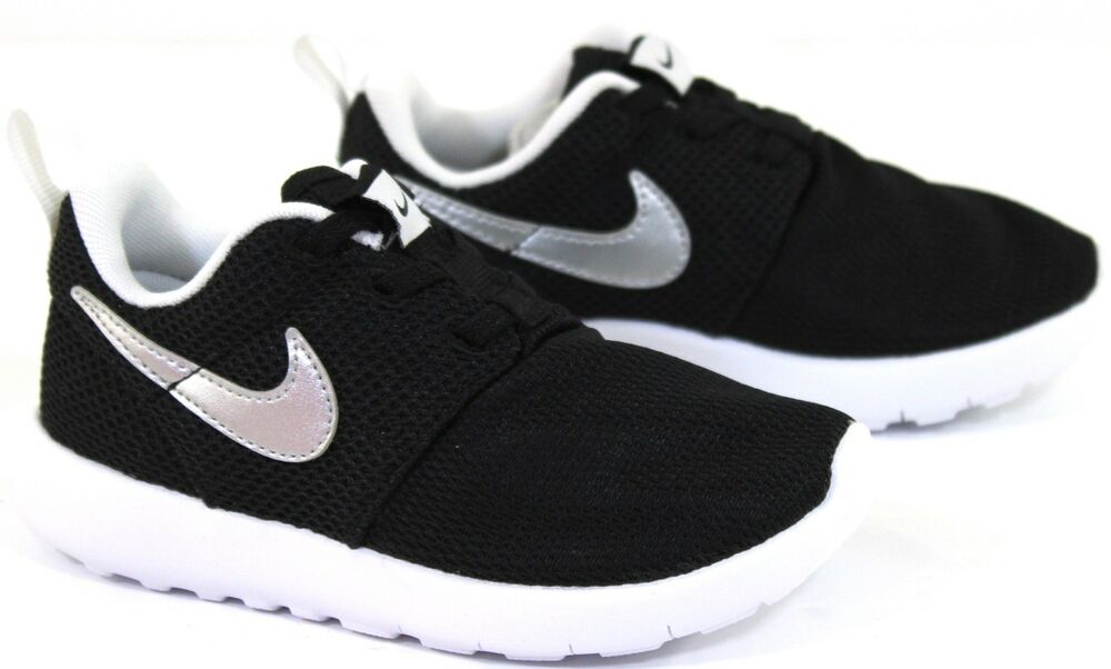 a2880715cf8a Children s Nike Roshe One TDV Black White Lace Up Trainers Sneakers ... nike