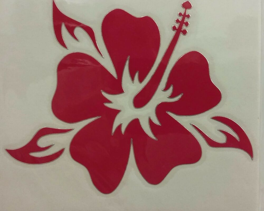 320cbaaa0166d1 Details about INBLOOM VINYL STICKER Red Hibiscus Flower DECAL CAR WINDOW  HOME ~ free ship