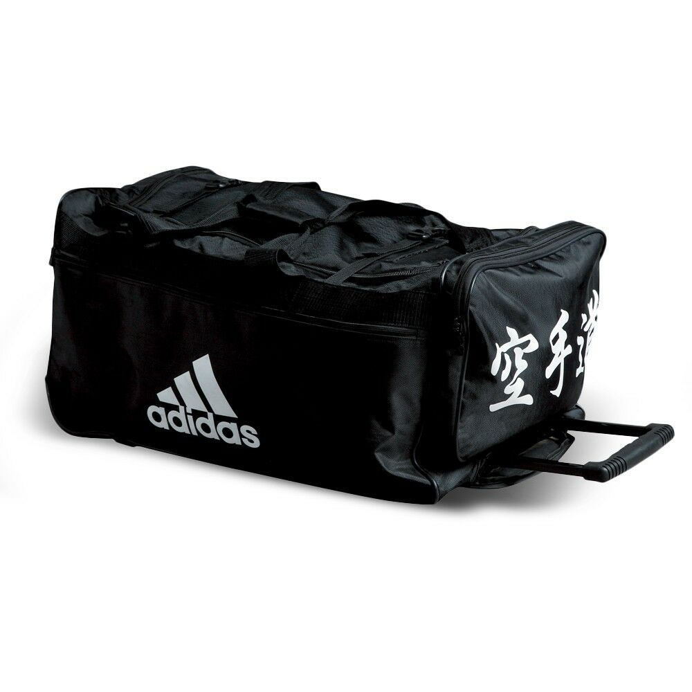 59012136fa63 Details about NEW adidas Karate Team Bag BUDO Sparring Gear Trolly Bag  Martial Arts Equipment
