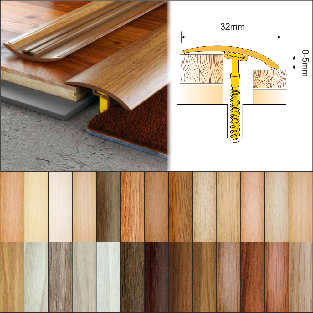 26 Colours Wood Effect Door Edging Floor Trim Threshold