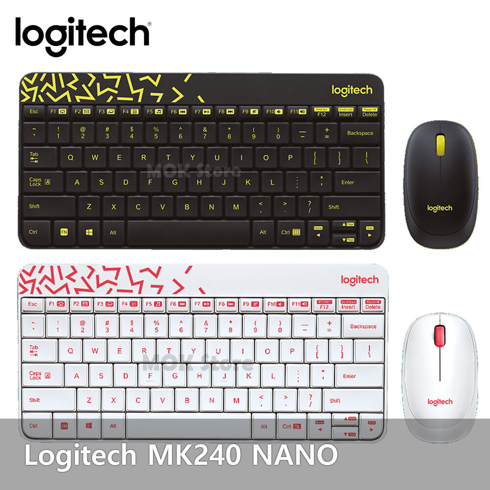 logitech mk240 nano usb receiver wireless keyboard and mouse combo 2 colors ebay. Black Bedroom Furniture Sets. Home Design Ideas
