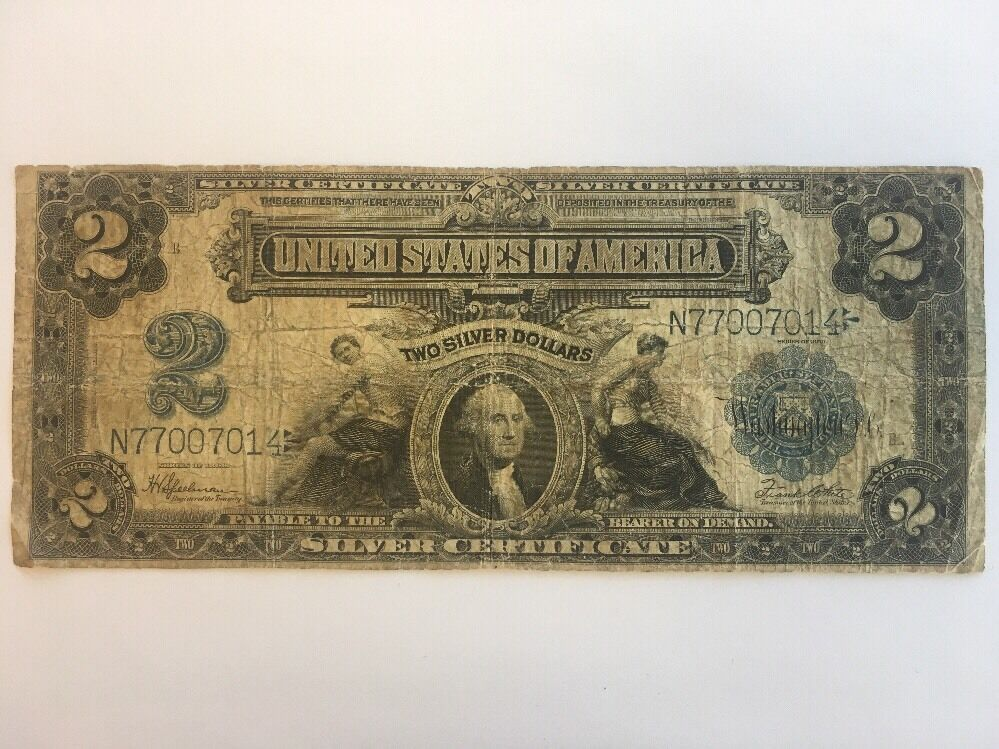 1899 2 Two Dollar Bill United States Silver Certificate Large