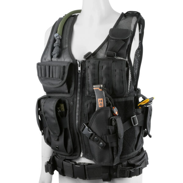 Tactical Military SWAT Police Airsoft Molle Combat Assault Vest