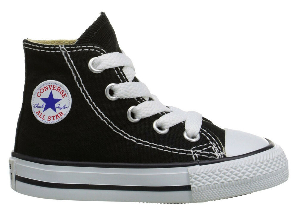 Converse Hi Tops Black All Sizes Infant Toddler Baby Boys Or Girls