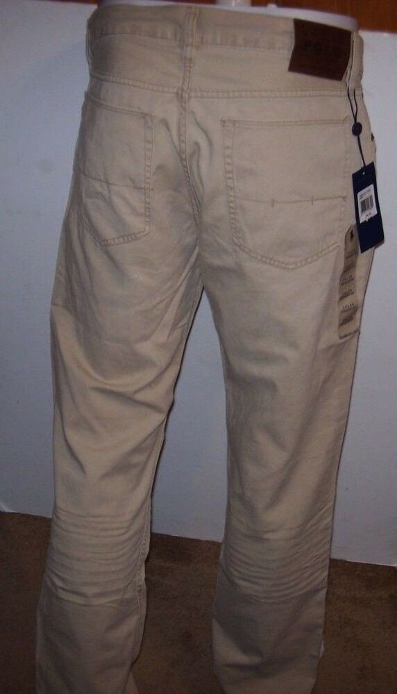 42915776f82e NEW Polo Ralph Lauren Straight 5 Pocket Chino khaki jeans pants ...