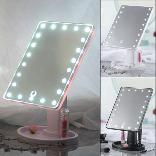 Portable 22 Led Touch Screen Makeup Mirror Tabletop