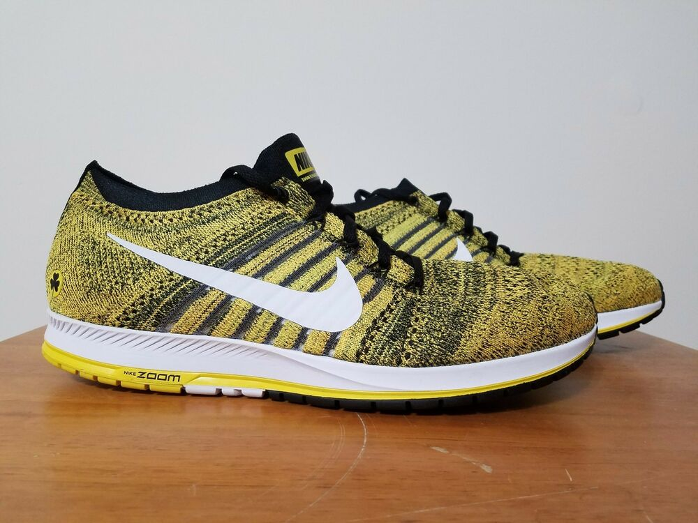 3a86d40a799e1 Nike Flyknit Streak BSTN Boston 883299 701 Yellow Strike size 11.5 NEW MSRP   150