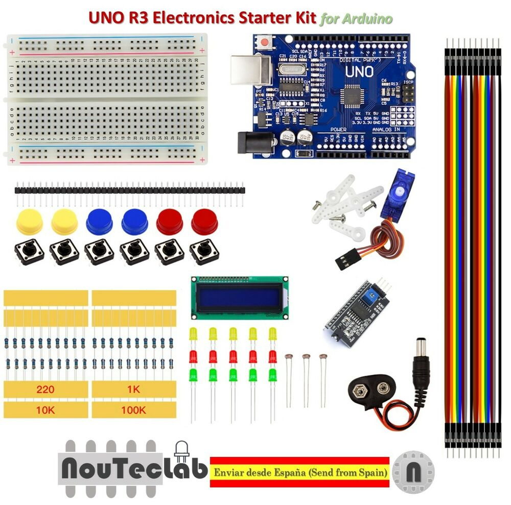 Basic starter kit uno r breadboard led lcd sg jumper