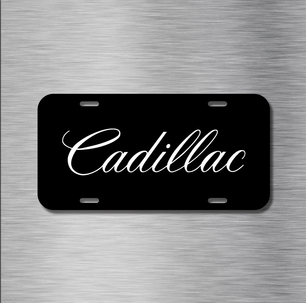 Cadillac Vehicle License Plate Front Auto Tag CTS ESCALADE