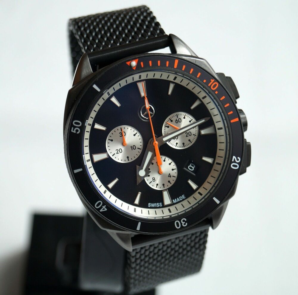 Mercedes Benz Motorsport Uhr schwarz /Swiss Made /Herren ...