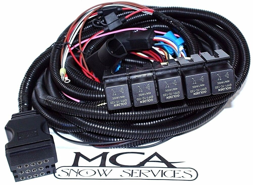 s l1000 boss snow plow 13 pin harness 5 relay main truck side wiring boss plow wiring harness truck side at crackthecode.co