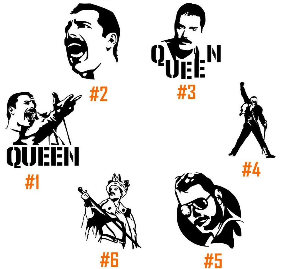 Freddie Mercury Vinyl Decal Sticker Car Window Wall Laptop