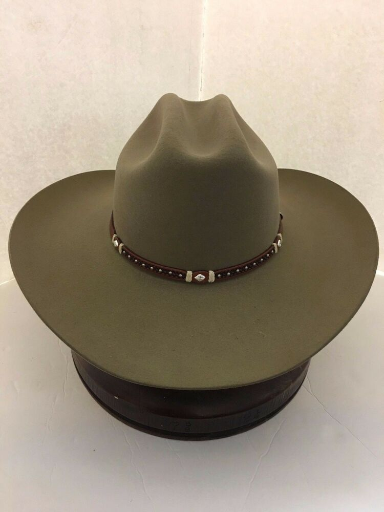 f0b465f5954 Details about Stetson Cowboy Hat 6X Beaver Fur Fawn Monterey T- With Free  Hat Brush+No Tax