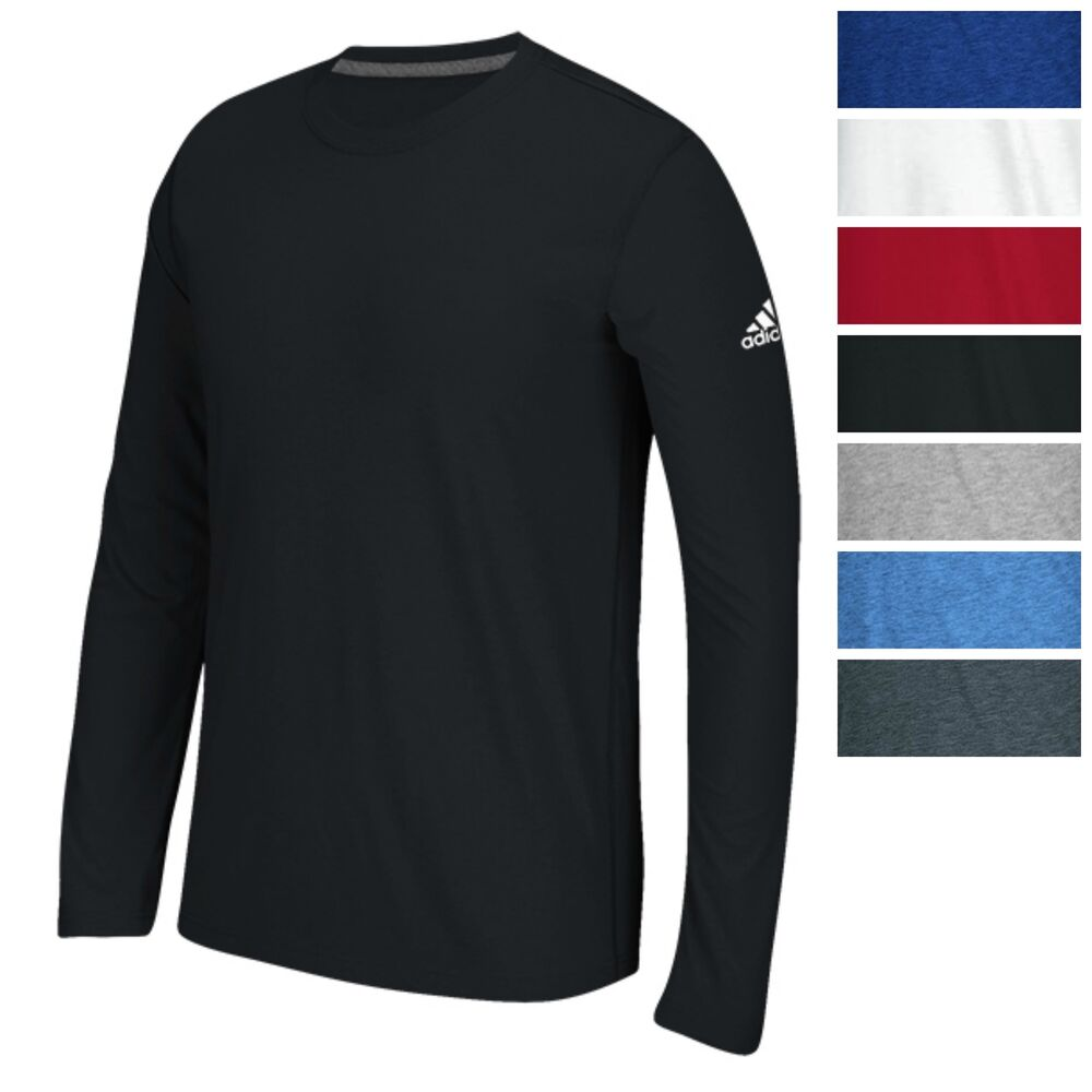 Adidas men 39 s long sleeve ultimate t shirt athletic fit tee for Athletic fit dress shirts