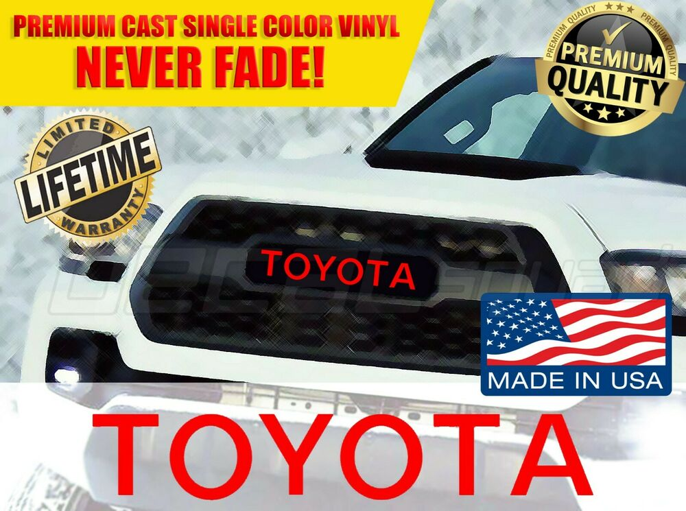 2018 Toyota Tundra Trd Pro >> TOYOTA TACOMA TRD PRO Grille Logo Decal Grill Letters Sticker 2016 2017 2018 NEW   eBay