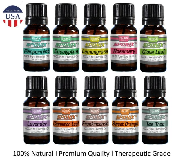 Top Essential Oil Gift Set - Best 10 Aromatherapy Oil Therapeutic Grade 10 mL