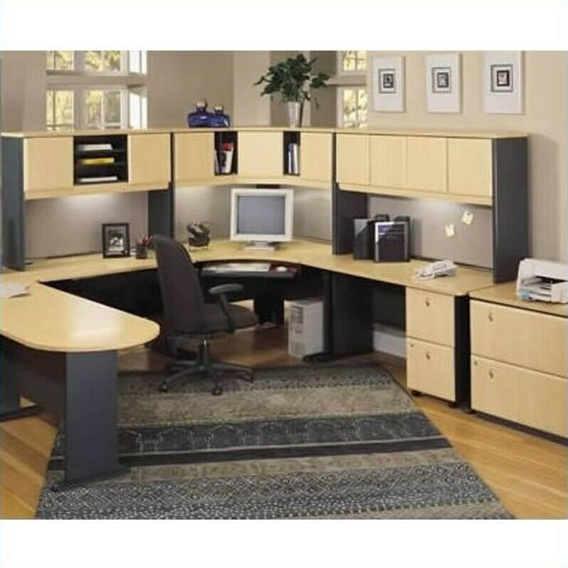 Home Office Sets Painted Office 5 Piece: Computer Desk Home Office Workstation Table 5-Piece U