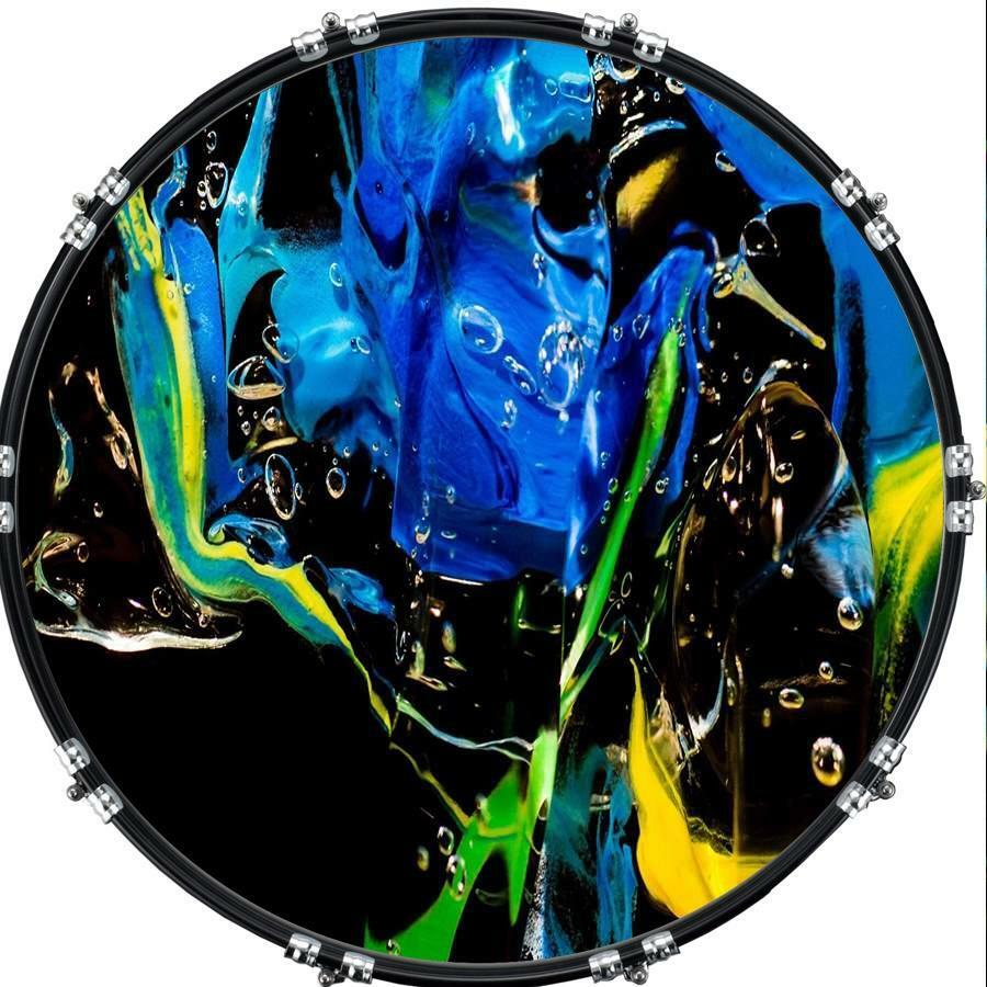 custom 22 kick bass drum head imageal image front skin abstract 30 ebay. Black Bedroom Furniture Sets. Home Design Ideas