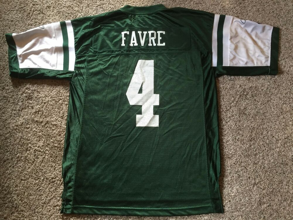 f38b318a2 VTG Brett Favre Reebok New York Jets Throwback NFL Jersey Mens Sz Large