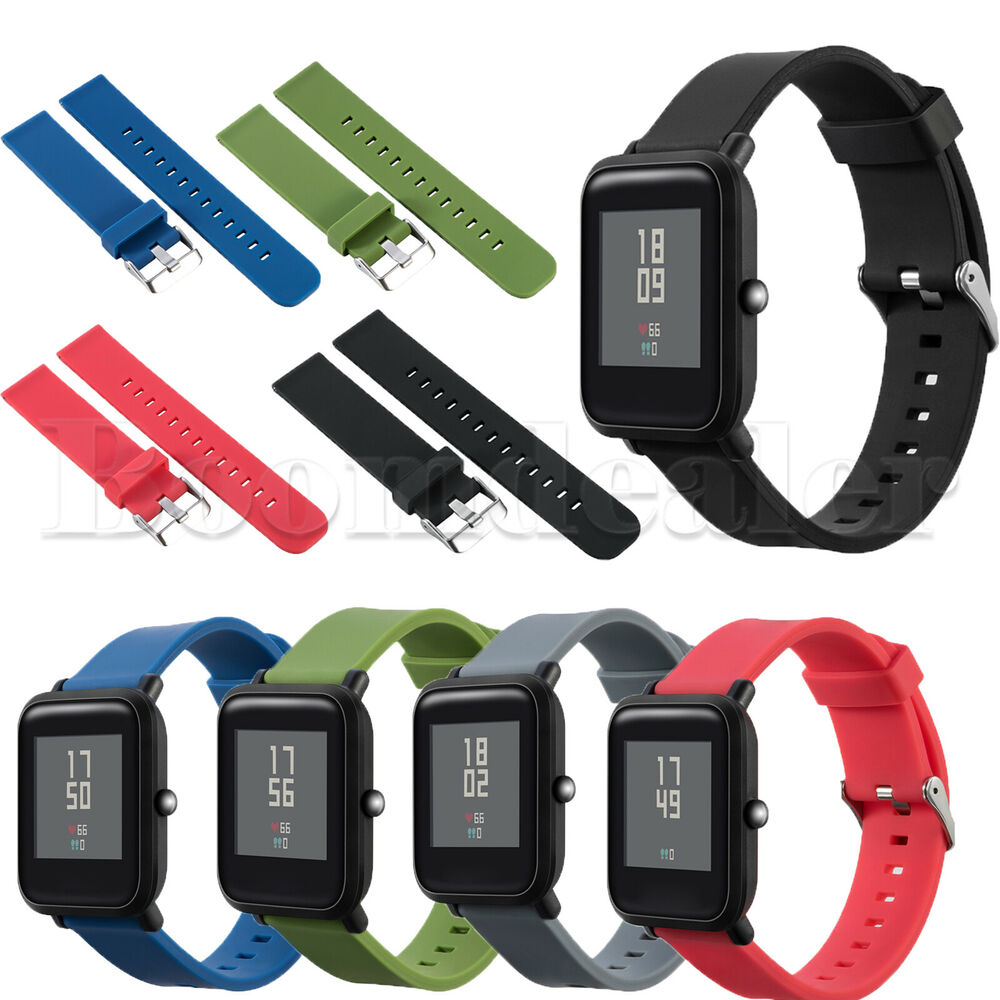 Silicone Wristband Straps For Xiaomi Huami Amazfit Bip Bit Pace Lite Smartwatch Band Replacement Strap Youth Watch Ebay