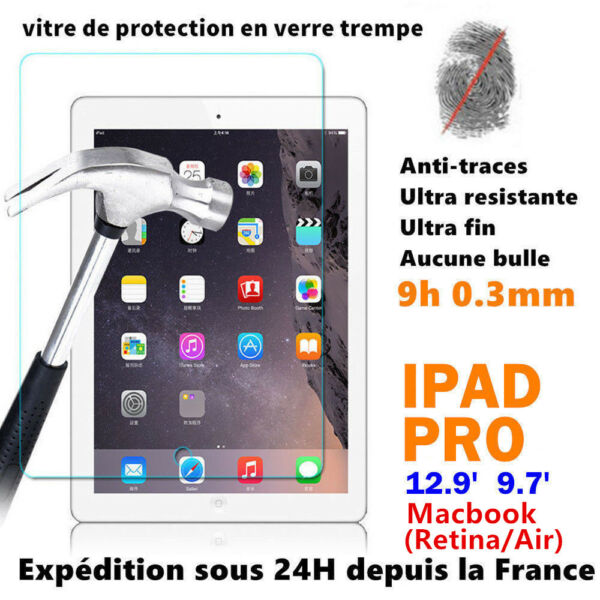 Tablette iPad PRO / Macbook Vitre Protection Film Protecteur Ecran VERRE trempé