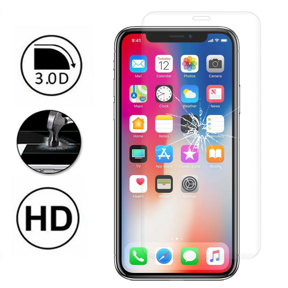 film protection cran verre tremp bord incurv apple iphone x 5 8 iphone 10 ebay. Black Bedroom Furniture Sets. Home Design Ideas