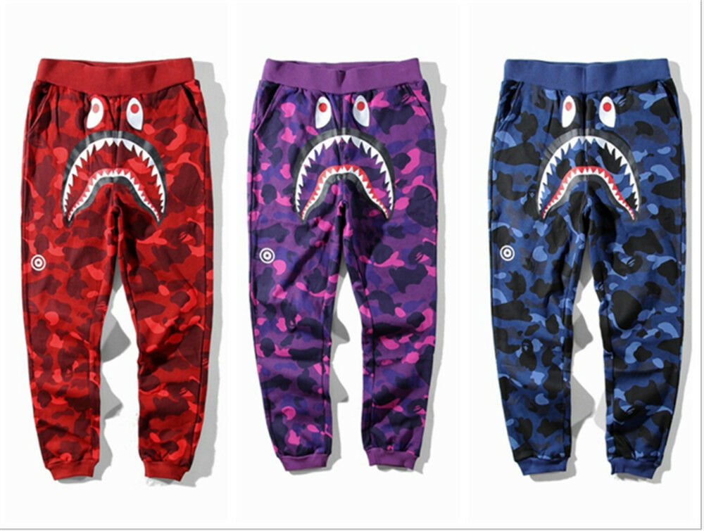 hot bathing ape pants bape sweatpants skinny outwear