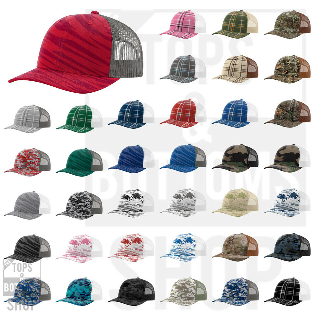 04f8619c9aa273 Details about Richardson Trucker Patterned Snapback Cap Baseball Hat - 112P  New for 2018