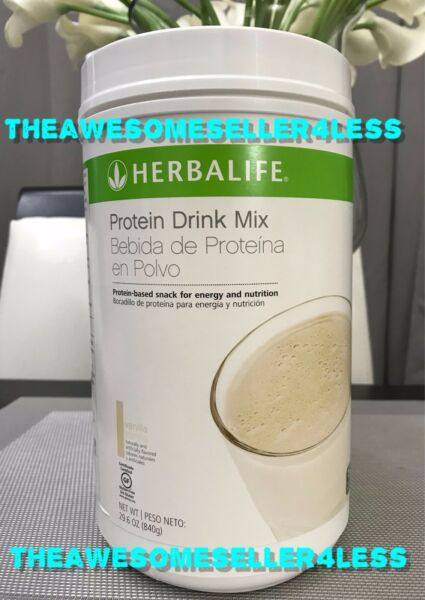 NEW HERBALIFE PROTEIN DRINK MIX - VANILLA FLAVOR  29.6 oz (840g) LARGE CONTAINER