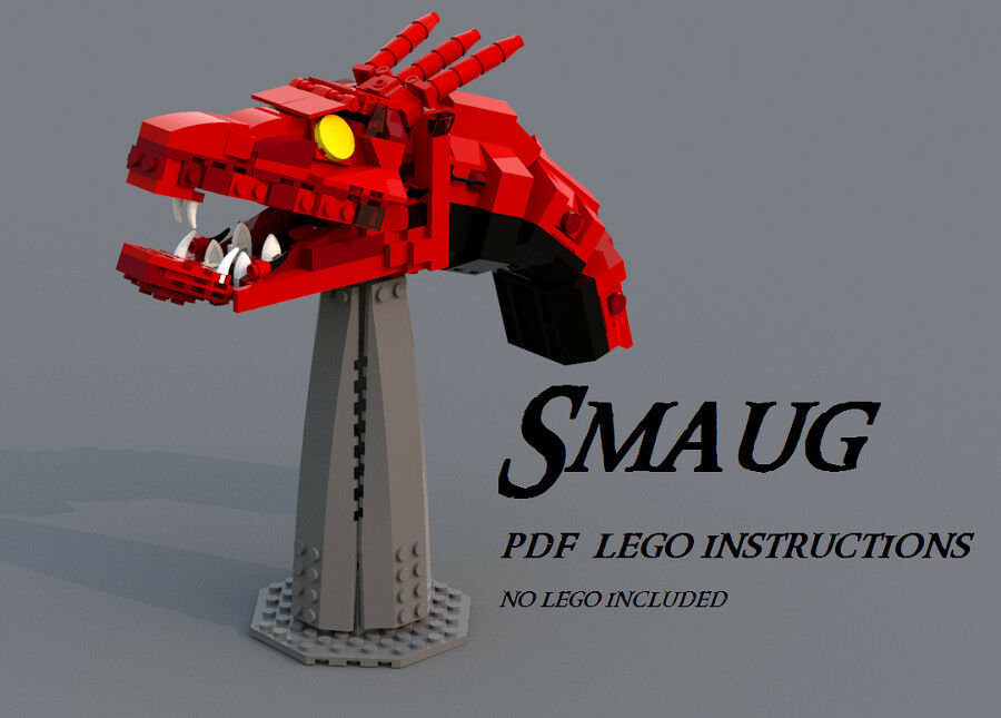 Lego Moc Lego Smaug Custom Pdf Instructions Lord Of The Rings