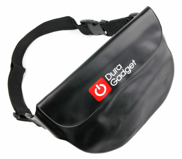 Black Waterproof Waist Bag for Phones Including the New Samsung Galaxy S5 / SV