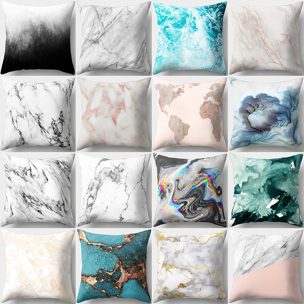 Marble Decoration: GEOMETRIC MARBLE TEXTURE THROW PILLOW CASE CUSHION COVER