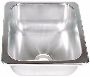 Image Is Loading 13 X 15 Stainless Steel Sink Single Bowl
