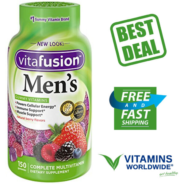 VITAFUSION MEN'S GUMMY Vitamins Immune, Muscle, Metabolism Support 150 Count