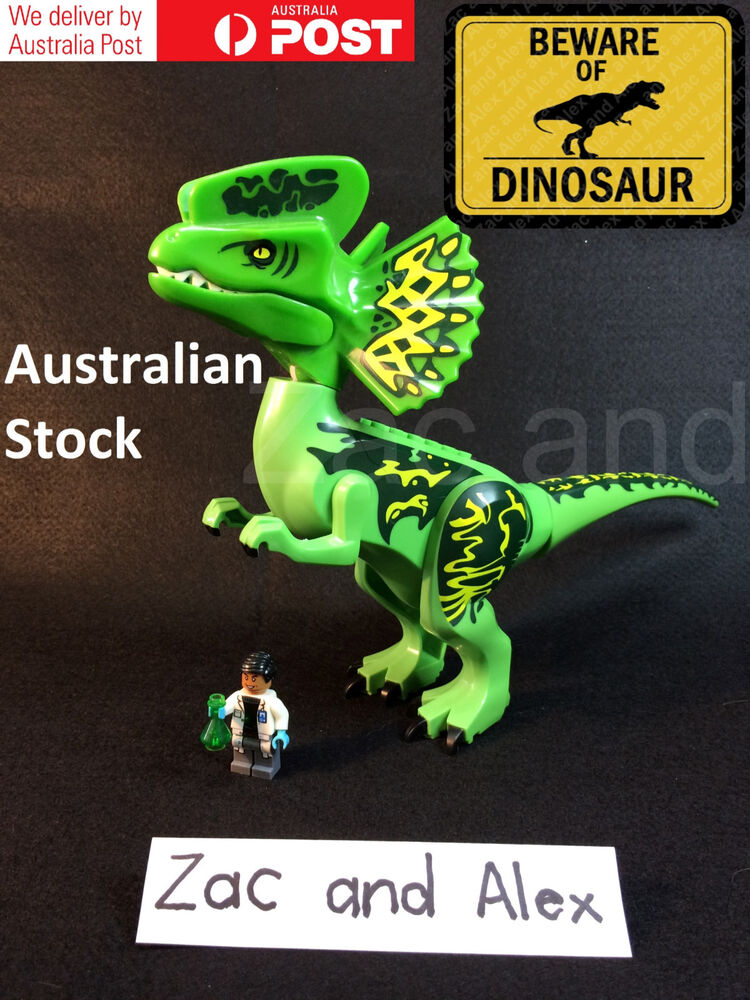Toys Lego Dinosaur : Giant dilophosaurus big dinosaurs toy fit jurassic world
