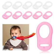 5Pcs Silicone Soft Button Baby Dummy Pacifier Holder Clip Adapter For MAM Rings