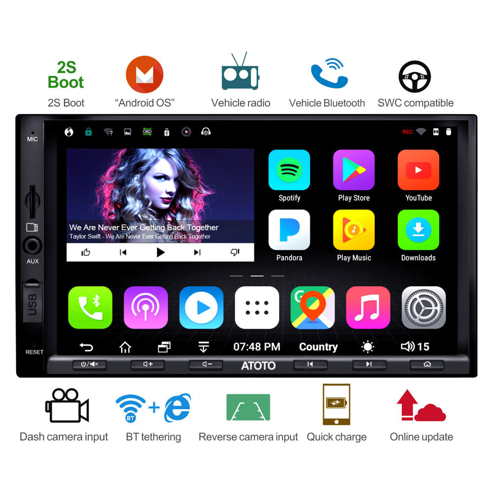 New atoto a6 2din android car gps stereo radio 2a for Ebay motors app for android
