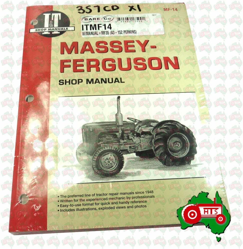 Tractor Workshop Manual Massey Ferguson 35 35X FE35 23C or Perkins 152  Diesel | eBay