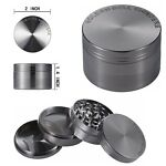 Tobacco Herb Spice Grinder 4 Pcs Herbal  Smoke Tough AlloyMetal Chromium Crusher