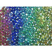 Lot of 12 SPLASH SPARKLE MIX Fused Glass DICHROIC Cabochons XS NO HOLE Beads