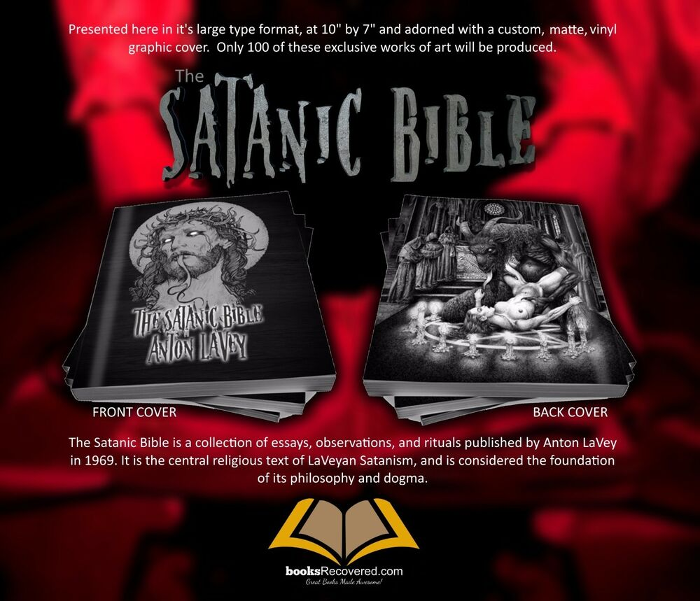 the satanic bible anton lavey pure evil by booksrecovered  the satanic bible anton lavey pure evil by booksrecovered shipping