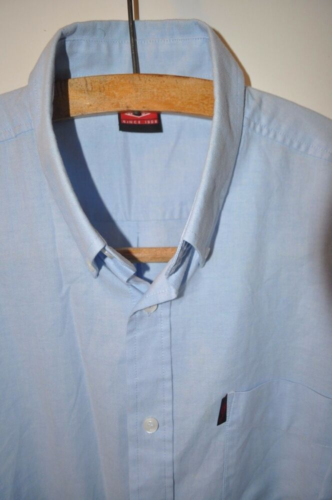 0c2cde0f47 Details about Lee Cooper blue short sleeve shirt size XL western
