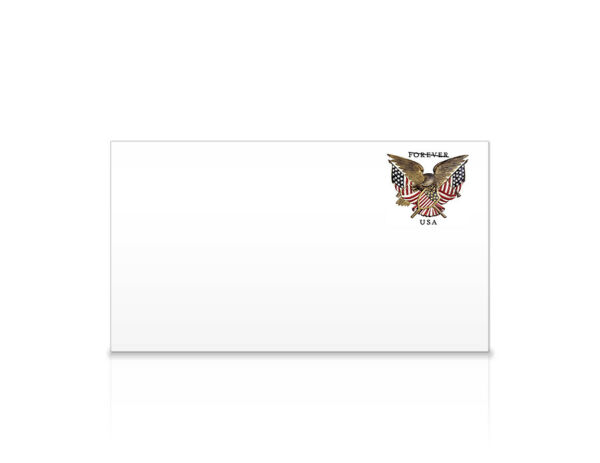 USPS New Folk Art Eagle #6 3/4 Regular Forever Stamped (WAG) Envelope Pack of 5