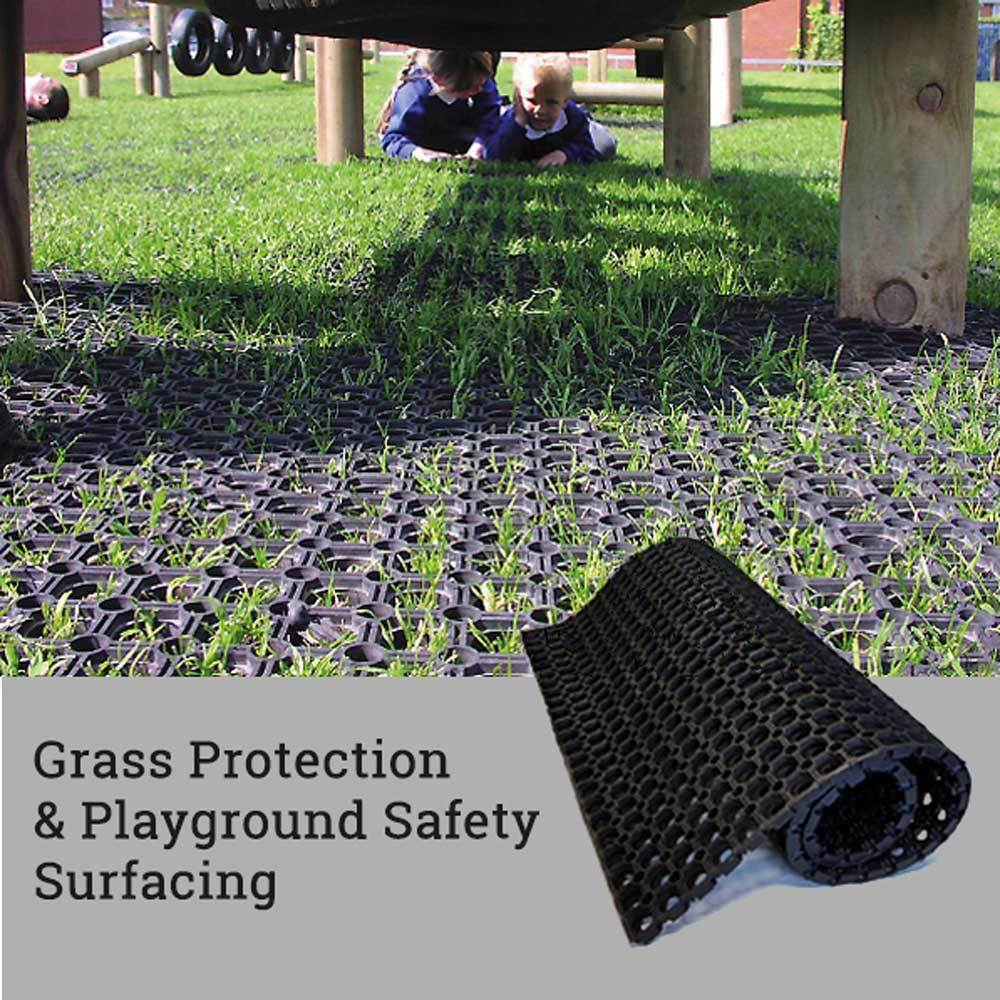 Hollow Rubber Mat Ground Reinforcement Grass Protection Playground Safety