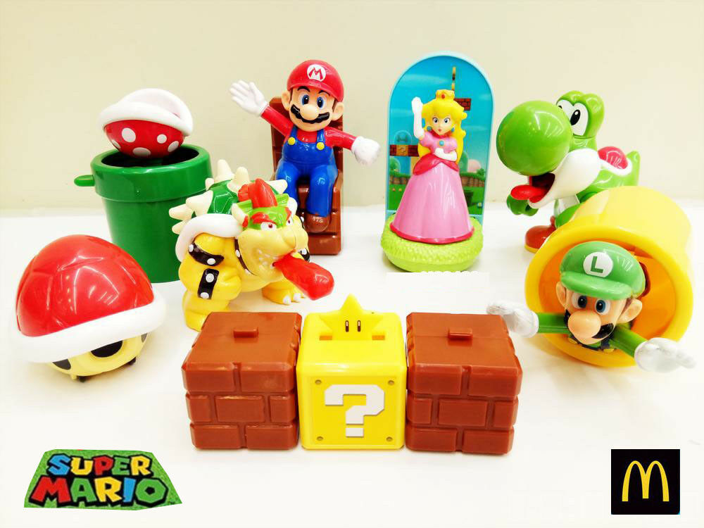 Happy Meal Toys : Mcdonald s super mario happy meal toy complete set