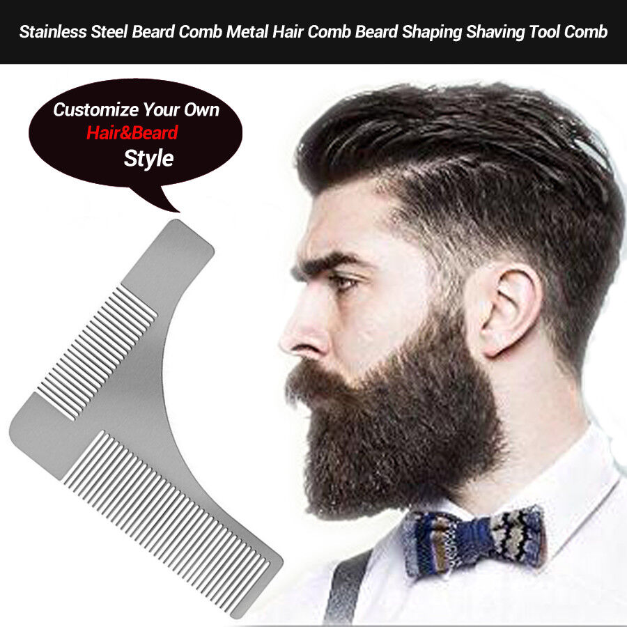 Hair Style Template: Beard Hair Shaping Comb Brush Template Tool Shave Form
