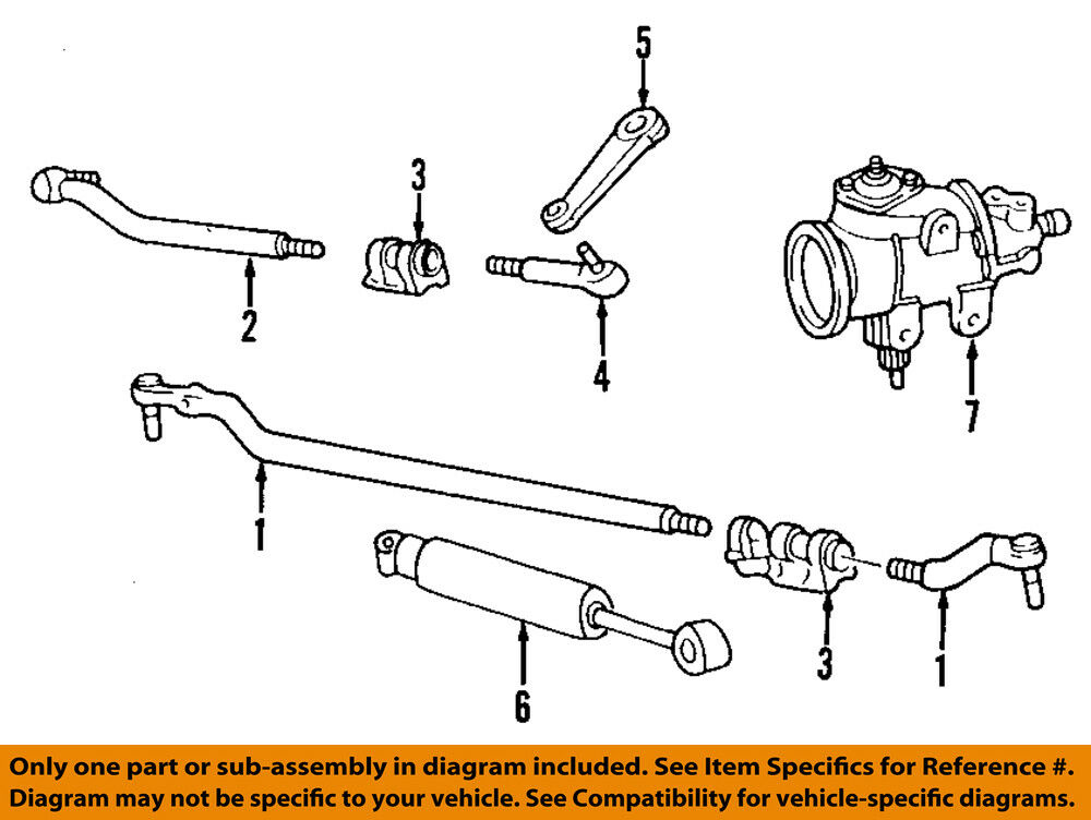 details about ford oem 99-07 f-250 super duty steering gear-center link  ac3z3304n