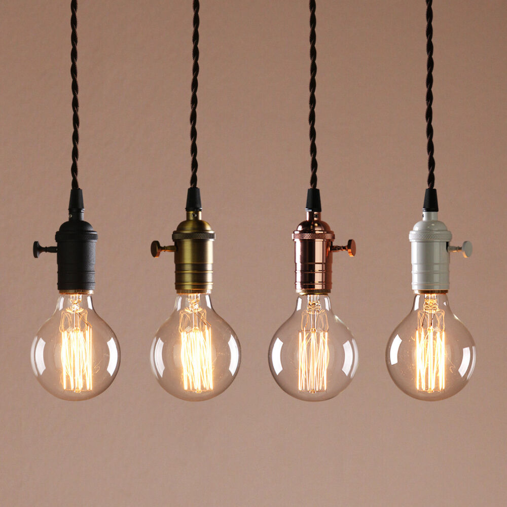 Bare Bulb Hanging Pendant Lights 2 Details about PATHSON CLUSTER 1-3 RETRO VINTAGE CEILING LIGHT BARE HOLDER HANGING  PENDANT LAMP